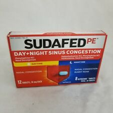 Sudafed PE Day+Night Sinus Congestion Tabs, 12ct+8ct 300450113214A517
