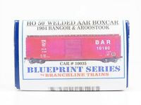 HO Scale Branchline Blueprint Kit 1904 BAR Bangor & Aroostook 50' Box Car #10035