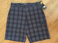 "NWT!!  Men's Pebble Beach 34 Black & Gray Plaid Golf Shorts. Inseam 10""."
