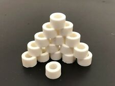 16 Tires .395 Soft C1 Tyco Curve Hugger Flanged Slot Car Silicone White Tires