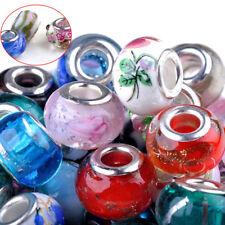 50stk Glasperlen Muranoglas Perlen Lampwork Charm Großlochperlen European Beads