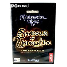 Neverwinter Nights Shadows of Undrentide Expansion Pack for PC CD Rom Game