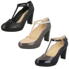 Clarks Block Heel 100% Leather Heels for Women