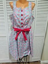 NWT Retrolicious Folter Vintage Wonderland Snowflake Cotton Dress Pockets Sz 1X