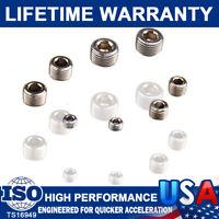 "6352G Pipe Plug Fitting Steel Pipe Plug Plated Chrome Set 1/8""1/4"" 3/8"" 1/2"" NPT"