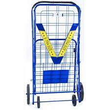 Athome Extra Large Deluxe Rolling Utility / Shopping Cart - Stowable Folding Hea