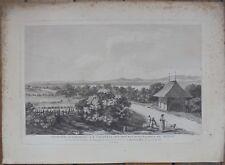 Gravure XVIIIe, Suisse bataille Morat, Murten Radierung Etching 18th Switzerland