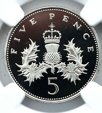 More details for 1985 5p proof ngc pf69 great britain royal mint  five pence great britain