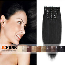 """22""""24""""26"""" Real Thick Long Straight Full head clip in hair extensions 7pcs/8pcs"""