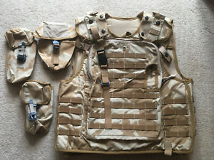 British Army Surplus DPM Desert Body Vest Armour Cover + MKII + Acc 190/108