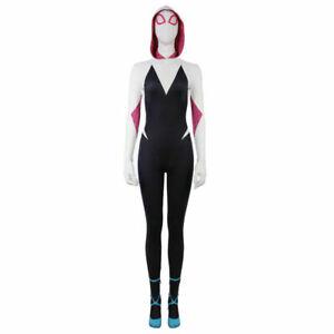 US Spider-Man Cosplay Costume Jumpsuits Gwen Stacy Women Girls Spandex Bodysuits