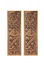 cast bronze Oriental pattern push plates antique reproductions