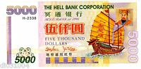 CHINE CHINA HELL BANK NOTE 5000 YUAN 1998  ARGENT FUNERAIRES SANS VALEUR