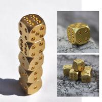 1 pc Copper Bar Supplies Massive Creative Supplies Mahjong Nuts Poker Brass Dice