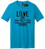 Love My Tribe Mens V-Neck T Shirt Mothers Day Fathers Day Gift Tee Mom Dad