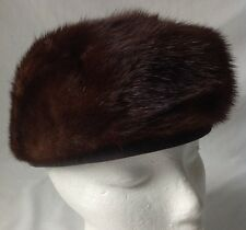 Vintage Lora Mink Fur Pillbox Hat Union Made