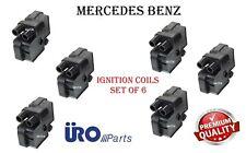 Engine Spark Plug Ignition Coils Set of 6 For Mercedes C CL E G ML S SL SLK URO