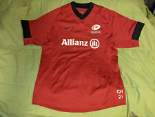 Saracens 2016-2017 NIKE rugby jersey shirt CH 21 Size LARGE / L - NEW, NO TAGS