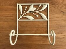 Handmade Iron Leaves Wall Mounted Paper Towel Holder CREAM/Ivory Color