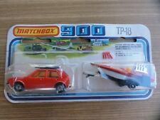 Matchbox 900 TP-18 VW GOLF MIT BOAT TRAILER NEU-OVP