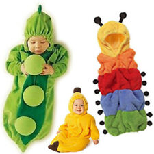 Winter Baby Banana Pea Sleep Bag Fleece Sleep Sacks 0-24M Cut Outfit Costume