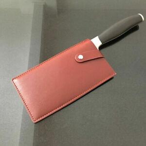Chef Knife Sheath Leather Chopper Cleaver Butcher Blade Guard Case Storage Bag