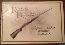 Vtg c1913 Ross Rifle Co. Quebec, Canada Ross Rifles Catalog 5th Edition
