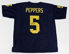 Jabrill Peppers Signed Blue Michigan Wolverines Jersey (JSA COA)