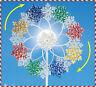 Winter SNOWFLAKES Double Solar Lighted Garden Wind Spinner Stake Yard Art Decor