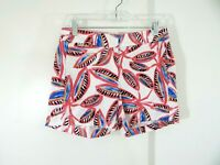 """womens J CREW shorts floral low rise casual cotton chino 3.5"""" flat front 00"""
