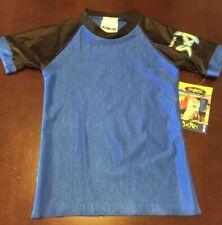Nwt Radicool Skins Sz 4 Blue Black Rash Guard Swim Top Upf 100 Beach Pool New!