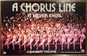 A CHORUS LINE Michael Bennett 1984 Postcard Marvin Hamlisch Martha Swope