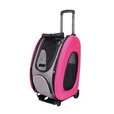 Ibiyaya Eva Pet Carrier/Wheeled Carrier Backpack - Hot Pink