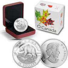 2014 O Canada 1/2 oz Silver $10 -  Grizzly Bear