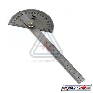 Round Head Rotary Protractor, Stainless Steel & Laser engraving Angle Ruler