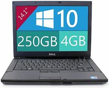 Dell Latitude Laptop Windows 10 Core i5 2.4Ghz 4GB RAM 250GB HD DVDRW 14""