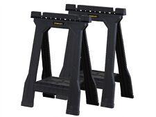 Stanley Plastic Junior DIY Saw Horse Trestles Twin Pack Set Trestle Bench