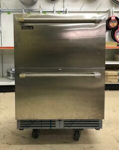 "Perlick HC24RB35 24"" Stainless Steel Undercounter 2 Drawer Refrigerator"