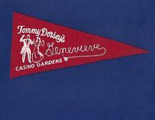 Vintage Tommy Dorsey Big Band Genevieve Casino Gardens Pennant 1946