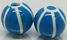 Replacement Ball Round Bead Balls Body Piercing Bar Rings 2X Acrylic Blue