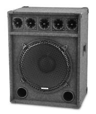 DJ PA PASSIVE SPEAKER BOX 15 INCH SUBWOOFER DISCO CLUB EQUIPMENT HOME PARTY 600W