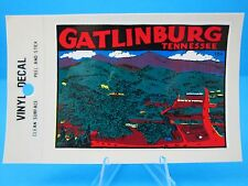 "Vintage... ""GATLINBURG - TENNESSEE"" STICKER / DECAL  (NEW OLD STOCK)"