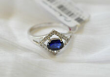 925 Sterling silver size 7 Ring, AAAAA grade CZ Sapphire stone. FREE POST. SR009
