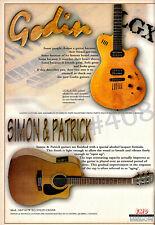 More details for godin lgx and simon & patrick guitar advert -  - 1997 emd advertisement