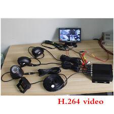 "7"" Car LCD Monitor+4 x Night vision Camera+4CH Car DVR MDVR Video Recorder Set"
