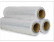 8 Rolls 20U CLEAR Hand Stretch Film 500mmx220m Pallet Wrap Shrink Wrapping AU