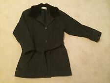 Stunning Womans' JONES OF NEW YORK Vintage Faux Trimmed Belted Wool Jacket EUC!