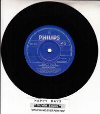 "SILVER STUDS  Happy Days 7"" 45 rpm vinyl record NEW + jukebox title strip"