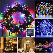 100/200 LED Solar Powered String Lights Waterproof Fairy Garden Lighting Decor