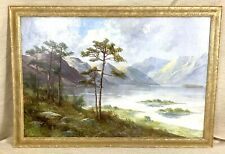 Large Framed Oil Painting Francis Jamieson Ullswater The Lake District Landscape